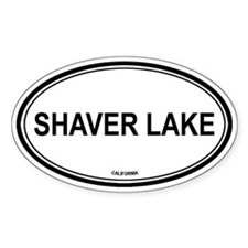 Shaver Lake oval Oval Decal
