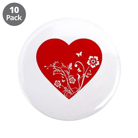 """Heart 3.5"""" Button (10 pack)"""