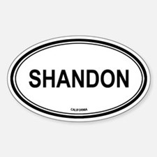 Shandon oval Oval Decal
