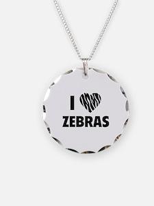 I Love Zebras Necklace