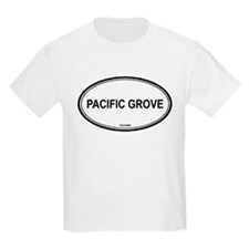 Pacific Grove oval Kids T-Shirt