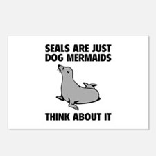 Dog Mermaids Postcards (Package of 8)