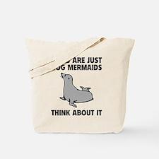 Dog Mermaids Tote Bag