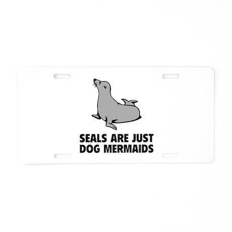 Dog Mermaids Aluminum License Plate