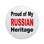 Proud Russian Heritage Ornament (Round)