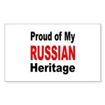 Proud Russian Heritage Rectangle Sticker