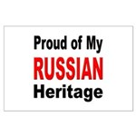 Proud Russian Heritage Large Poster