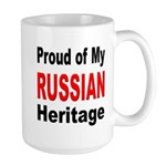 Proud Russian Heritage Large Mug