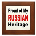 Proud Russian Heritage Framed Tile