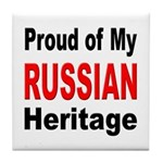 Proud Russian Heritage Tile Coaster
