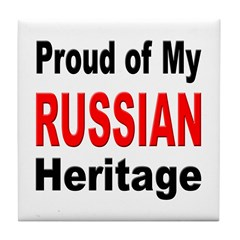 Proud Russian Heritage Tile Coaster