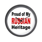 Proud Russian Heritage Wall Clock