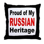 Proud Russian Heritage Throw Pillow