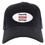 Proud Russian Heritage Black Cap