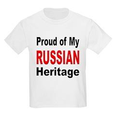 Proud Russian Heritage Kids T-Shirt