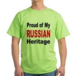 Proud Russian Heritage Green T-Shirt