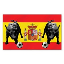 Spanish Football Bull Flag Decal