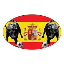 Spanish Football Bull Flag Decal