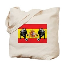 Spanish Football Bull Flag Tote Bag