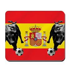 Spanish Football Bull Flag Mousepad