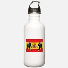 Spanish Football Bull Flag Water Bottle