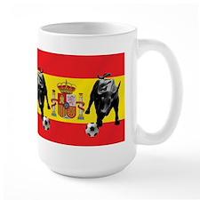 Spanish Football Bull Flag Mug