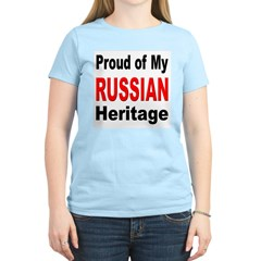 Proud Russian Heritage Women's Pink T-Shirt