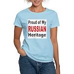 Proud Russian Heritage (Front) Women's Pink T-Shir