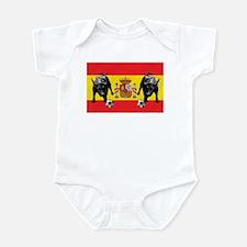 Spanish Football Bull Flag Infant Bodysuit