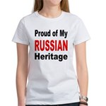 Proud Russian Heritage (Front) Women's T-Shirt