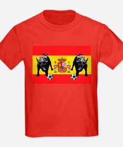 Spanish Football Bull Flag T