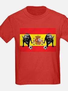 Spanish Football Bull Flag T