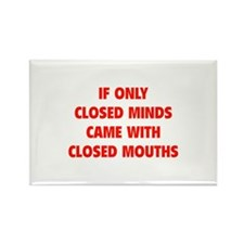 Closed Minds Rectangle Magnet