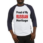 Proud Russian Heritage (Front) Baseball Jersey