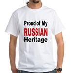 Proud Russian Heritage White T-Shirt