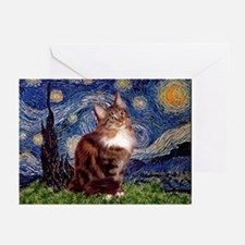 Starry Maine Coon Greeting Cards (Pk of 10)