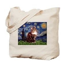 Starry Maine Coon Tote Bag
