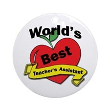 Funny School administration assistant Ornament (Round)