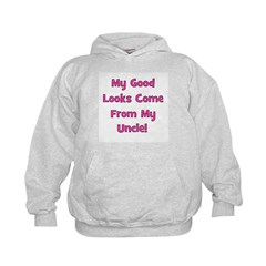 Good Looks From Uncle - Pink Hoodie