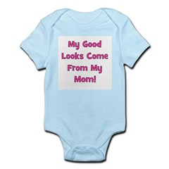 Godo Looks From Mom - Pink Infant Creeper
