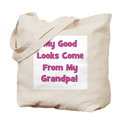 Good Looks from Grandpa - Pin Tote Bag