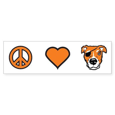 Peace Love Pig Bumper Sticker