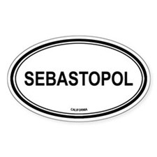 Sebastopol oval Oval Decal