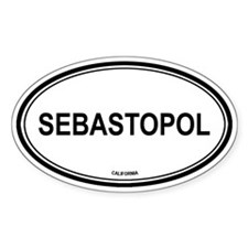 Sebastopol oval Oval Decal