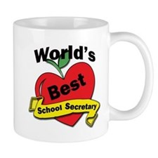 Worlds Best School Secretary Mugs