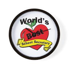 School secretary Wall Clock