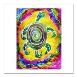 Abstract Turtle Square Car Magnet 3