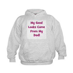 Good Looks From Dad - Pink Hoodie