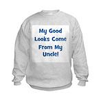 Good Looks From Uncle - Blue Kids Sweatshirt