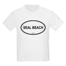 Seal Beach oval Kids T-Shirt